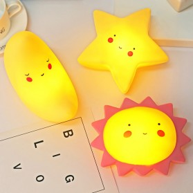 FGHGF Lampu Tidur Anak LED Light Cute Smiley Model Bintang - FGH01 - Blue - 5