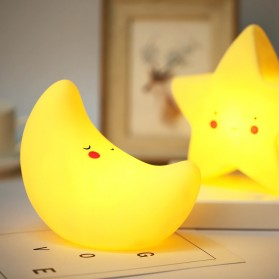 FGHGF Lampu Tidur Anak LED Light Cute Smiley Model Bintang - FGH01 - Blue - 6