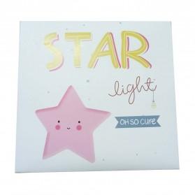 FGHGF Lampu Tidur Anak LED Light Cute Smiley Model Bintang - FGH01 - Blue - 9