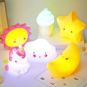 FGHGF Lampu Tidur Anak LED Light Cute Smiley Model Awan - FGH01 - White - 3