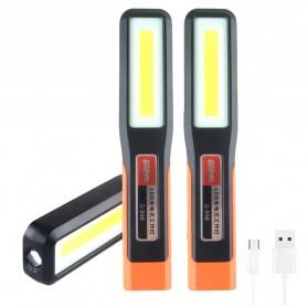 QIUBOSS Lampu Lantera LED Darurat Emergency Light Portable Magnetic COB - G-998 - Black