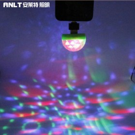 ANLT Magic Ball Lampu LED RGB USB Atmospere DJ Light Sound Control with Lightning Adapter - HS-WT-007 - White