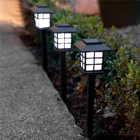 AIFENG Lampu Taman Solar Panel Garden Decoration Ground Plug Cold White Light - EM320 - Black - 1