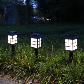 AIFENG Lampu Taman Solar Panel Garden Decoration Ground Plug Cold White Light - EM320 - Black - 3