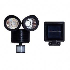 QuadG Lampu Taman Solar Sensor Gerak Outdoor Weatherproof 22 LED - L450 - Black
