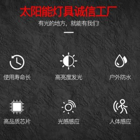 QuadG Lampu Taman Solar Sensor Gerak Outdoor Weatherproof 22 LED - L450 - Black - 5