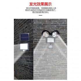 QuadG Lampu Taman Solar Sensor Gerak Outdoor Weatherproof 42 LED - L450 - Black