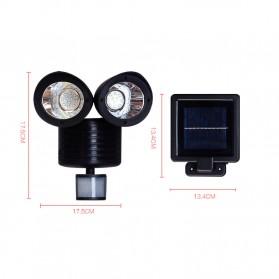 QuadG Lampu Taman Solar Sensor Gerak Outdoor Weatherproof 42 LED - L450 - Black - 7