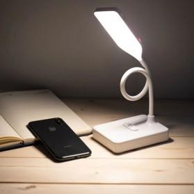 Lampu Baca / Meja Belajar - DIGAD Lampu Meja Belajar Desk Lamp 20 LED USB Power Version - T1908 - White