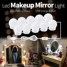 CanLing Lampu Bola LED Cermin Make Up USB Mirror Light Bulb 10 LED 3000-5500K - CLN10 - White - 3