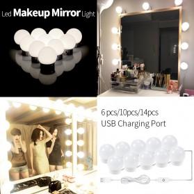 CanLing Lampu Bola LED Cermin Make Up USB Mirror Light Bulb 10 LED 3000-5500K - CLN10 - White - 7