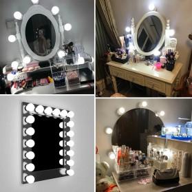 CanLing Lampu Bola LED Cermin Make Up USB Mirror Light Bulb 10 LED 3000-5500K - CLN10 - White - 8
