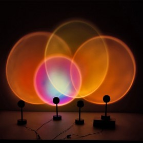YUEYI Lampu Proyektor LED Night Light Wall Decoration Lightning Sunset Red Projector 5W - 02201 - Red - 2