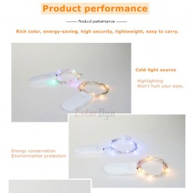 ANBLUB Lampu String Hias Dekorasi Fairy Party Decoration 50 LED 5 Meter - 2G55 - Warm White - 4