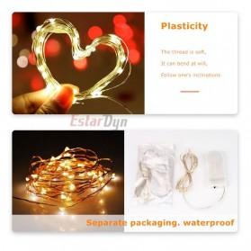 ANBLUB Lampu String Hias Dekorasi Fairy Party Decoration 50 LED 5 Meter - 2G55 - Warm White - 5