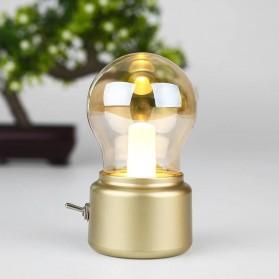 Feimefeiyou  Lampu Hias LED New Year Retro Bulb Rechargeable - JP-TTN - Golden