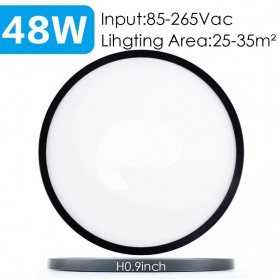 MARPOU Lampu LED Plafon Modern Ceiling Light 48W 16Inch - EPS28 - Black