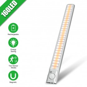 GOODLAND Lampu LED Kabinet Sensor Cahaya Rechargeable 160LED - D162W - Warm White