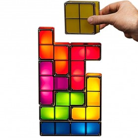 Feimefeiyou Lampu Hias LED Tetris Stackable Puzzles 7 PCS - F0017 - Multi-Color