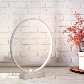 FLDJL Lampu Hias LED Table Desk Lamp Big Ring 300mm 24W Cool White - KT2068 - White