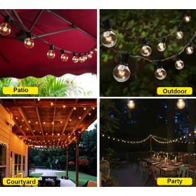 Dongdahua Lampu Hias Dekorasi Ball Fairy Light 7.6M 25 Bulb 3W Warm White - GY25 - Black - 6