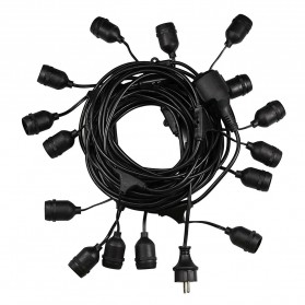 RAYWAY Lampu Hias LED Dekorasi Retro Edison String Light 5M 15 Bulb 2W Warm White - GY26 - Warm White - 3