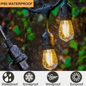 RAYWAY Lampu Hias LED Dekorasi Retro Edison String Light 5M 15 Bulb 2W Warm White - GY26 - Warm White - 5