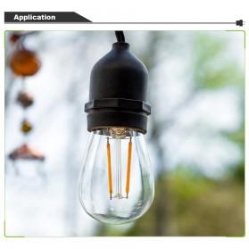 RAYWAY Lampu Hias LED Dekorasi Retro Edison String Light 5M 15 Bulb 2W Warm White - GY26 - Warm White - 7