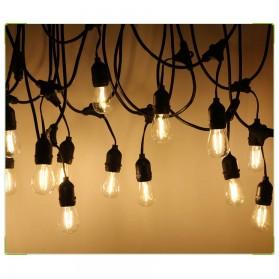 RAYWAY Lampu Hias LED Dekorasi Retro Edison String Light 5M 15 Bulb 2W Warm White - GY26 - Warm White - 8