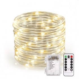 ANBLUB Lampu String Hias Dekorasi 100 LED 12 Meter + Remote - LISM-12 - Warm White