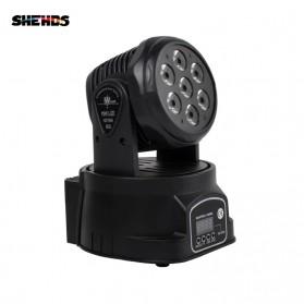 SHEHDS Lampu LED Disco DJ Dance Club Moving Head light 10W - SHE-0718 - Black