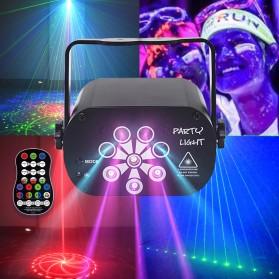 Youe Shone Proyektor Laser LED Lampu Disco DJ Party Lights 120 Patterns - M-RGB-62 - Black