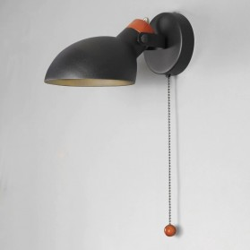 Aisilan Lampu Hias Dinding Bedside LED Nordic Socket E27 - BD205 - Black