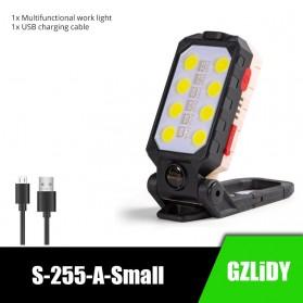 GZLIDY Senter Camping Lampu LED Portable Magnet COB 2000 Lumens Small - W598B - Black