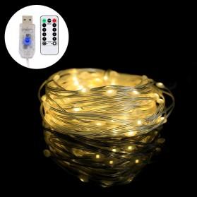 ANBLUB Lampu String Hias Dekorasi USB 100 LED 10 Meter + Remote - LISM-13 - Warm White
