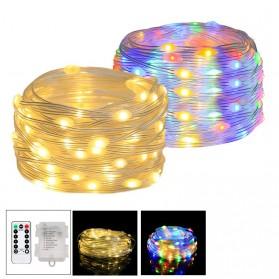 ANBLUB Lampu String Hias Dekorasi 100 LED 10 Meter + Remote - LISM-14 - Warm White
