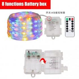 ANBLUB Lampu String Hias Dekorasi 100 LED 10 Meter + Remote - LISM-14 - Warm White - 2
