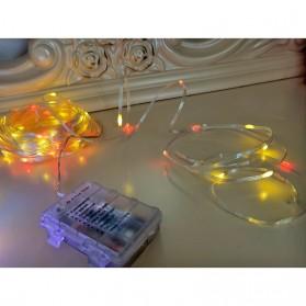 ANBLUB Lampu String Hias Dekorasi 100 LED 10 Meter + Remote - LISM-14 - Warm White - 4