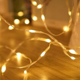ANBLUB Lampu String Hias Dekorasi 100 LED 10 Meter + Remote - LISM-14 - Warm White - 5