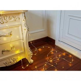 ANBLUB Lampu String Hias Dekorasi 100 LED 10 Meter + Remote - LISM-14 - Warm White - 6