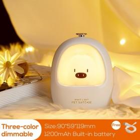 LOENDE Lampu Tidur Lucu Anak LED RGB Light Model Piggy 1200mAh -XD088 - White