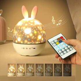 Lampu Malam / Lampu Tempat Tidur - AOKAILA Lampu Proyektor LED Night Light Atmosphere - AO-93 - White