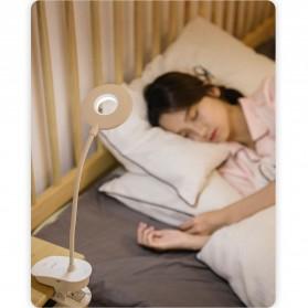 Yage Lampu Meja Belajar LED Clip Circle Design 5700-7300K - YG-T102 - White - 2