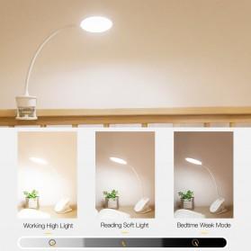 Yage Lampu Meja Belajar LED Clip Circle Design 5700-7300K - YG-T102 - White - 3