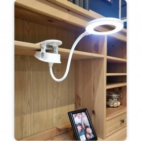 Yage Lampu Meja Belajar LED Clip Circle Design 5700-7300K - YG-T102 - White - 6