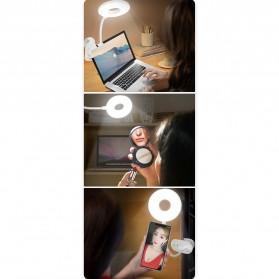 Yage Lampu Meja Belajar LED Clip Circle Design 5700-7300K - YG-T102 - White - 11