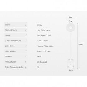 Yage Lampu Meja Belajar LED Clip Circle Design 5700-7300K - YG-T102 - White - 12