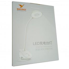 Yage Lampu Meja Belajar LED Clip Circle Design 5700-7300K - YG-T102 - White - 13