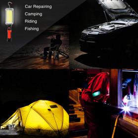 CoBa Senter Lampu Gantung Lantera Emergency Floodlight Light Stick Rechargeable 700 Lumens - ZJ-8859-B - Red/Black - 4