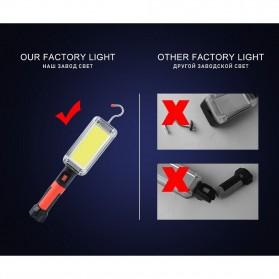 CoBa Senter Lampu Gantung Lantera Emergency Floodlight Light Stick Rechargeable 700 Lumens - ZJ-8859-B - Red/Black - 8